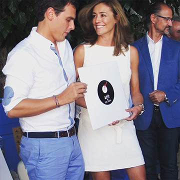 Premios Gredos 2015. LP de Jamón para Albert Rivera
